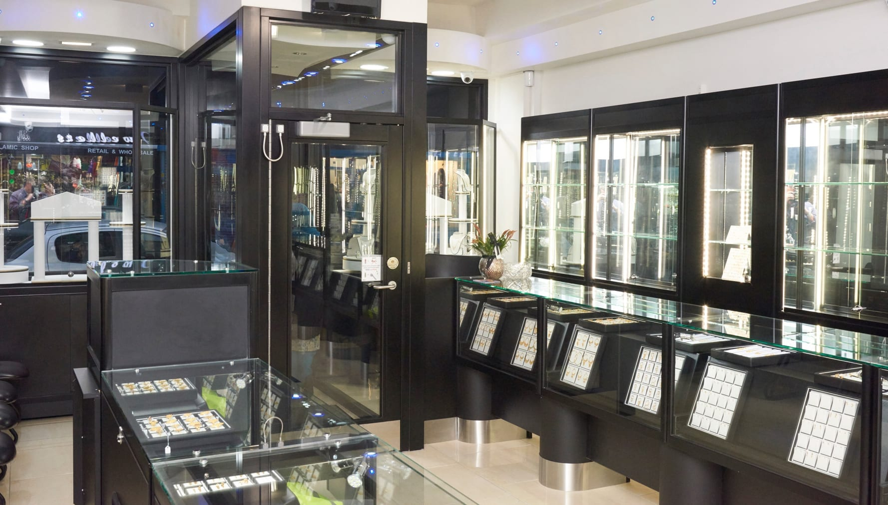 Warrior Fully Glazed Interlocking swing Doors & Display Cabinets