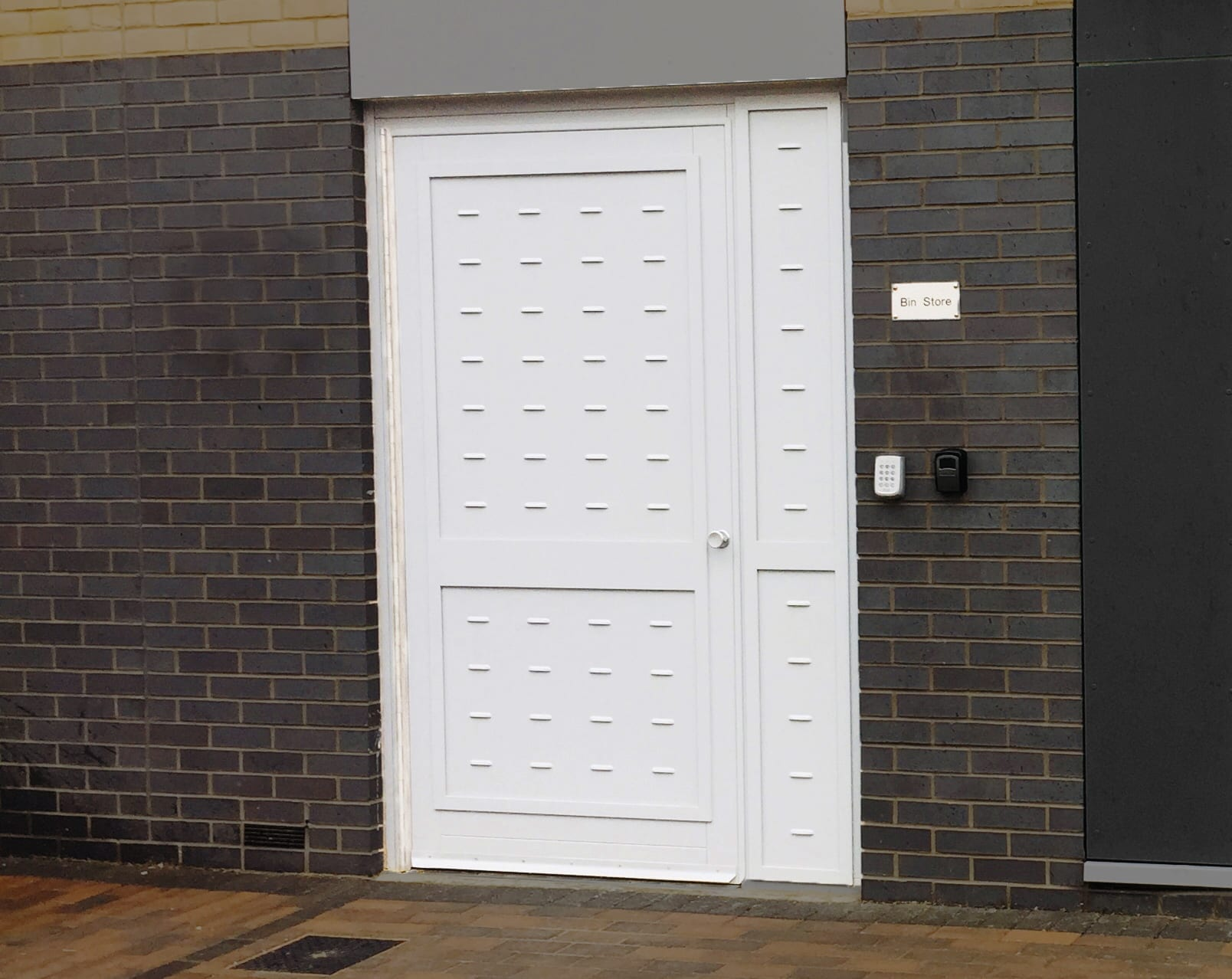 A photo of a Warrior Bin Store Door.