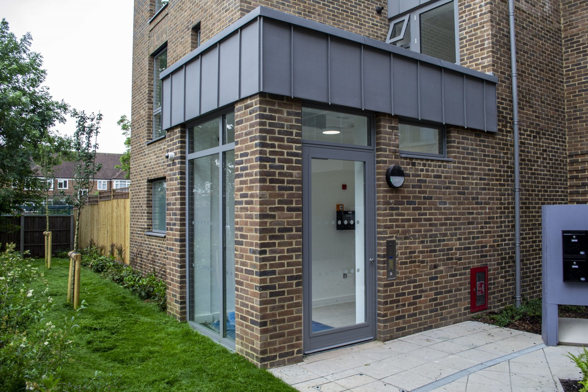 Fully Glazed Warrior Communal Entrance Door & Screen on a Communal Residential Building
