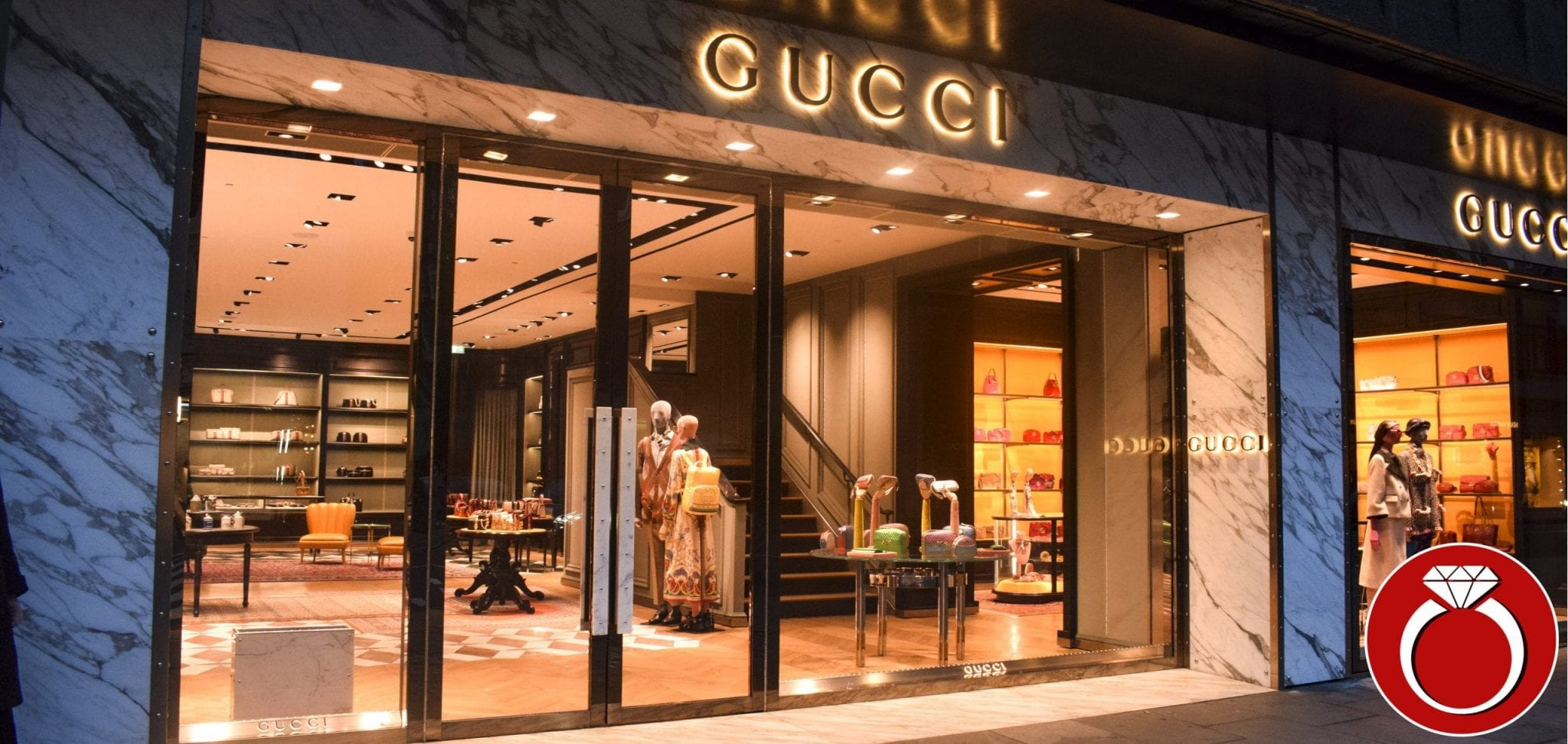 Warrior Fully Glazed Shop Front & Double Swing Doors for Gucci