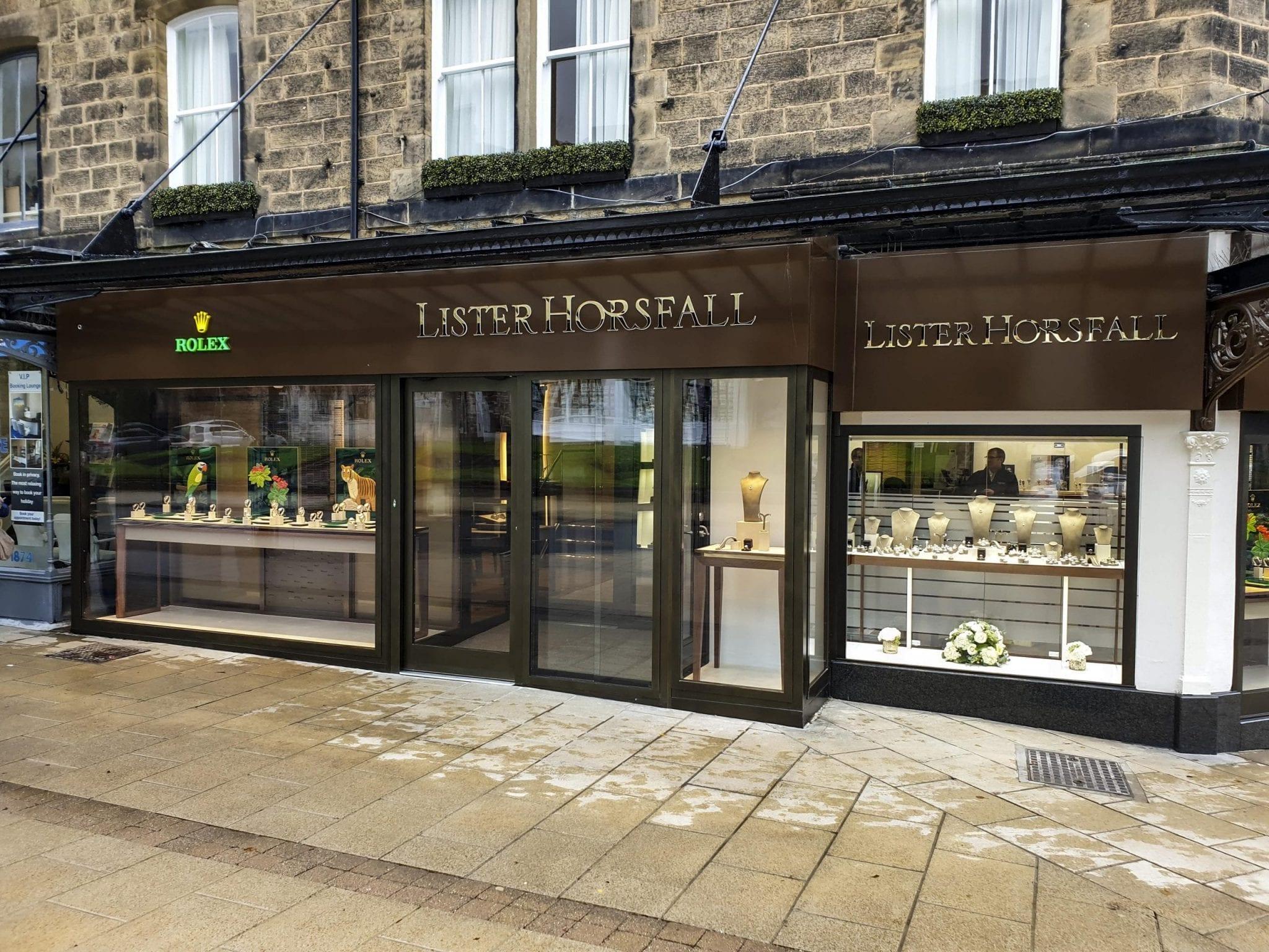 Lister Horsfall's Warrior Shop Front & Fully Glazed Interlocking Sliding Doors