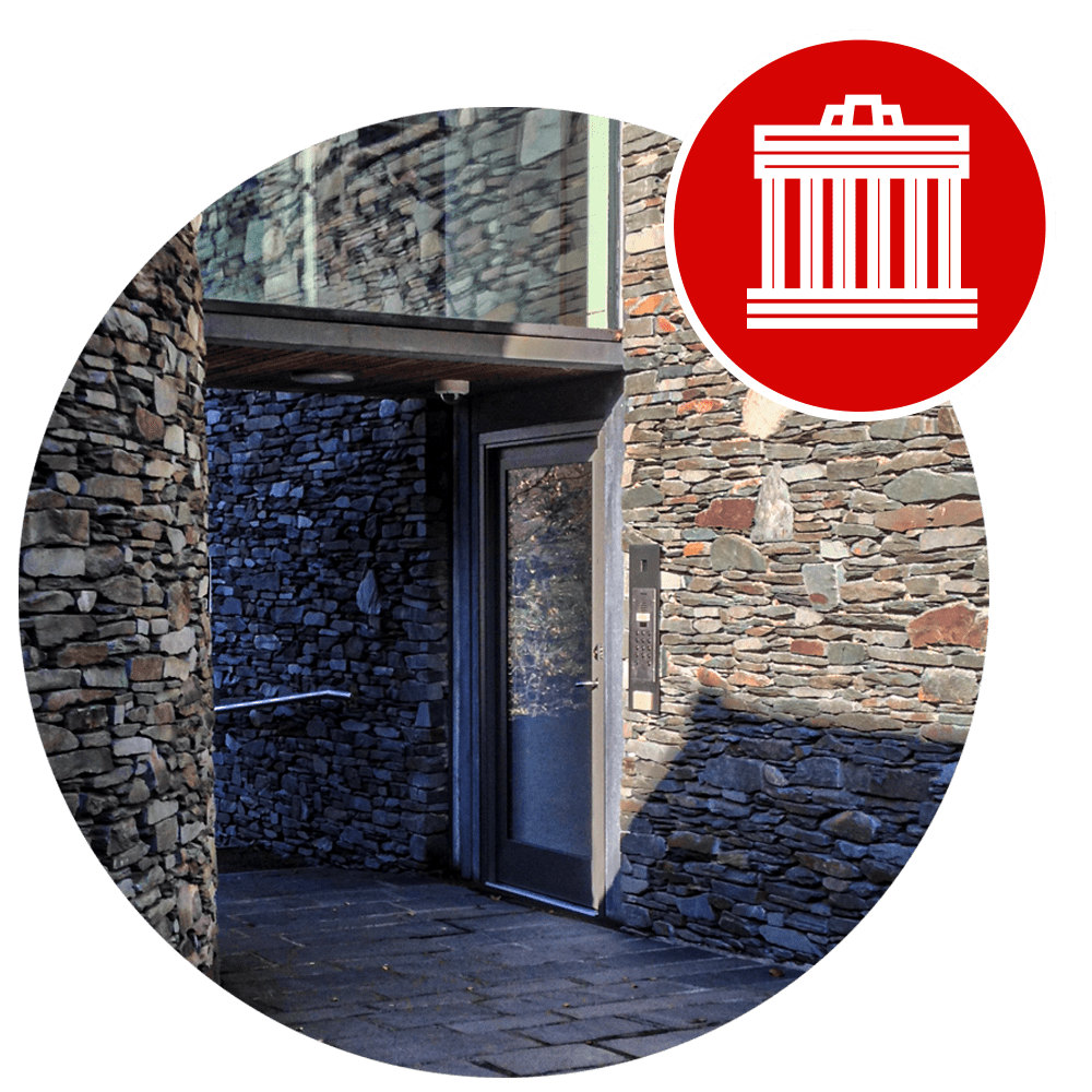 Fully Glazed High Security Warrior Swing Door at Wordsworth Museum with Culture & Heritage Icon