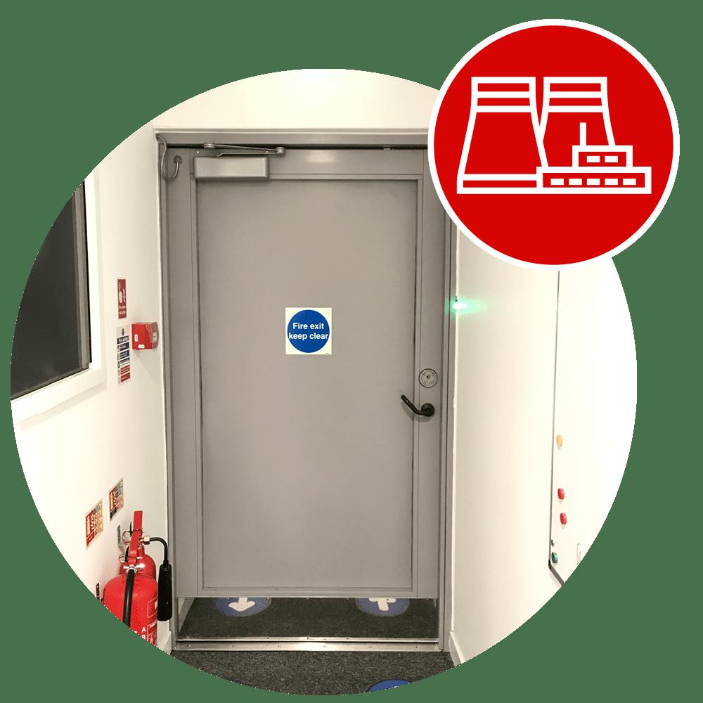 Full Stainless Steel Warrior Swing Door with Key Utilities icon
