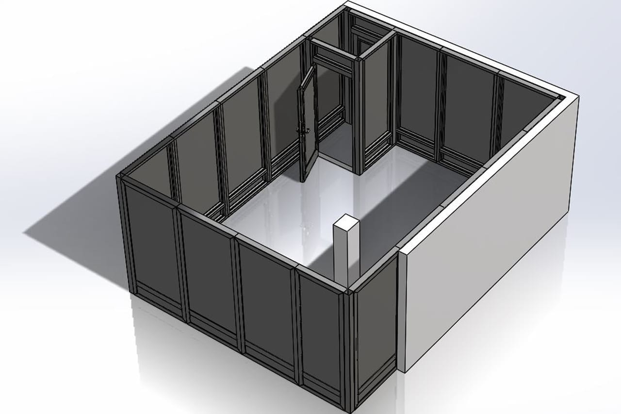 3D Rendered Image of a Warrior Enclosure