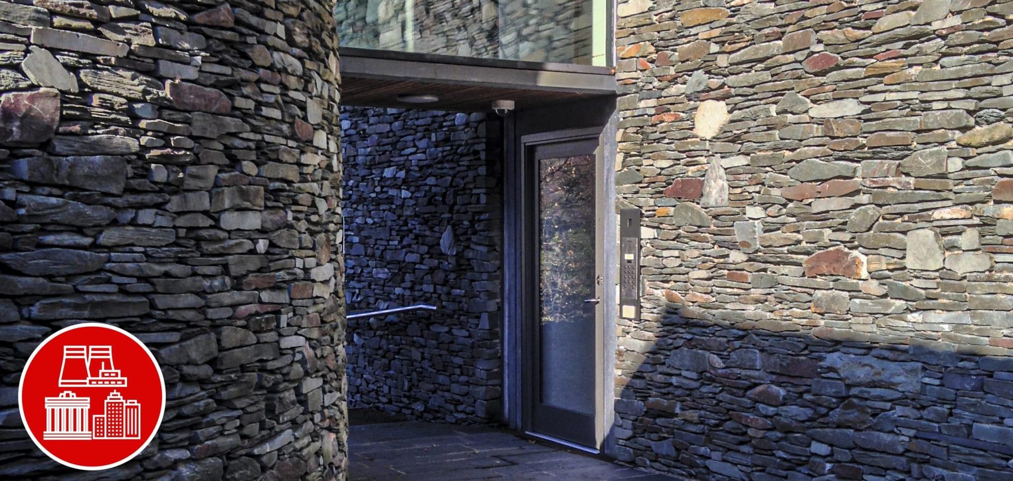Fully Glazed High Security Warrior Swing Door at Wordsworth Museum