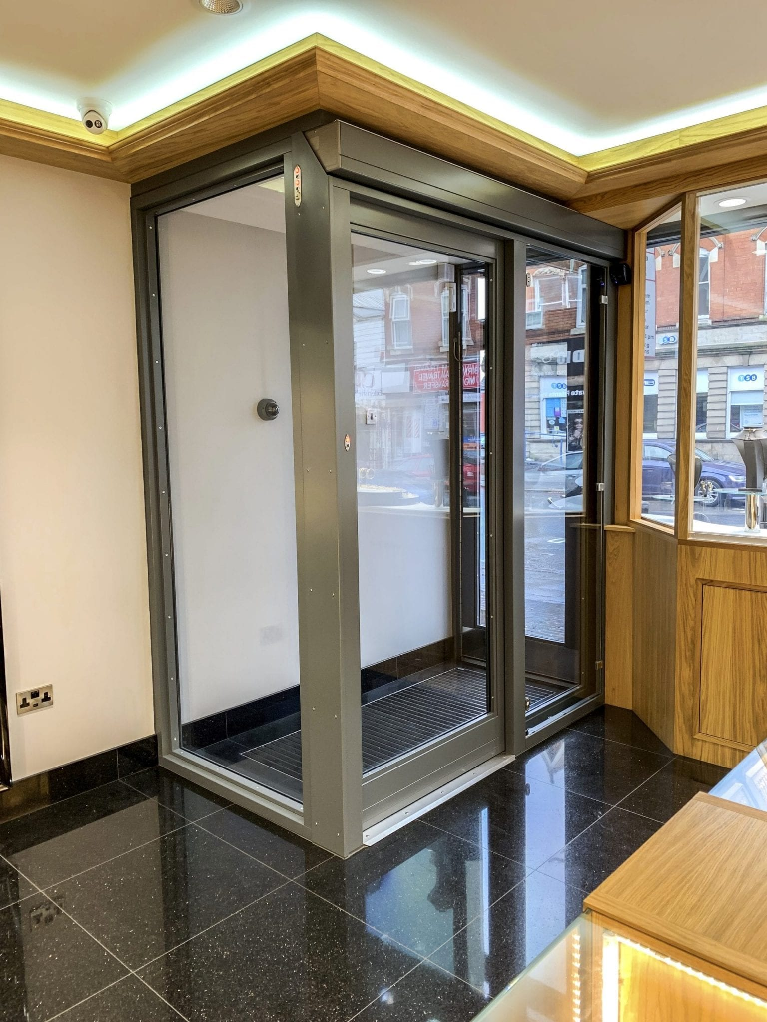 Warrior Fully Glazed Interlocking Doors with a Swing Door & Sliding Door Combination