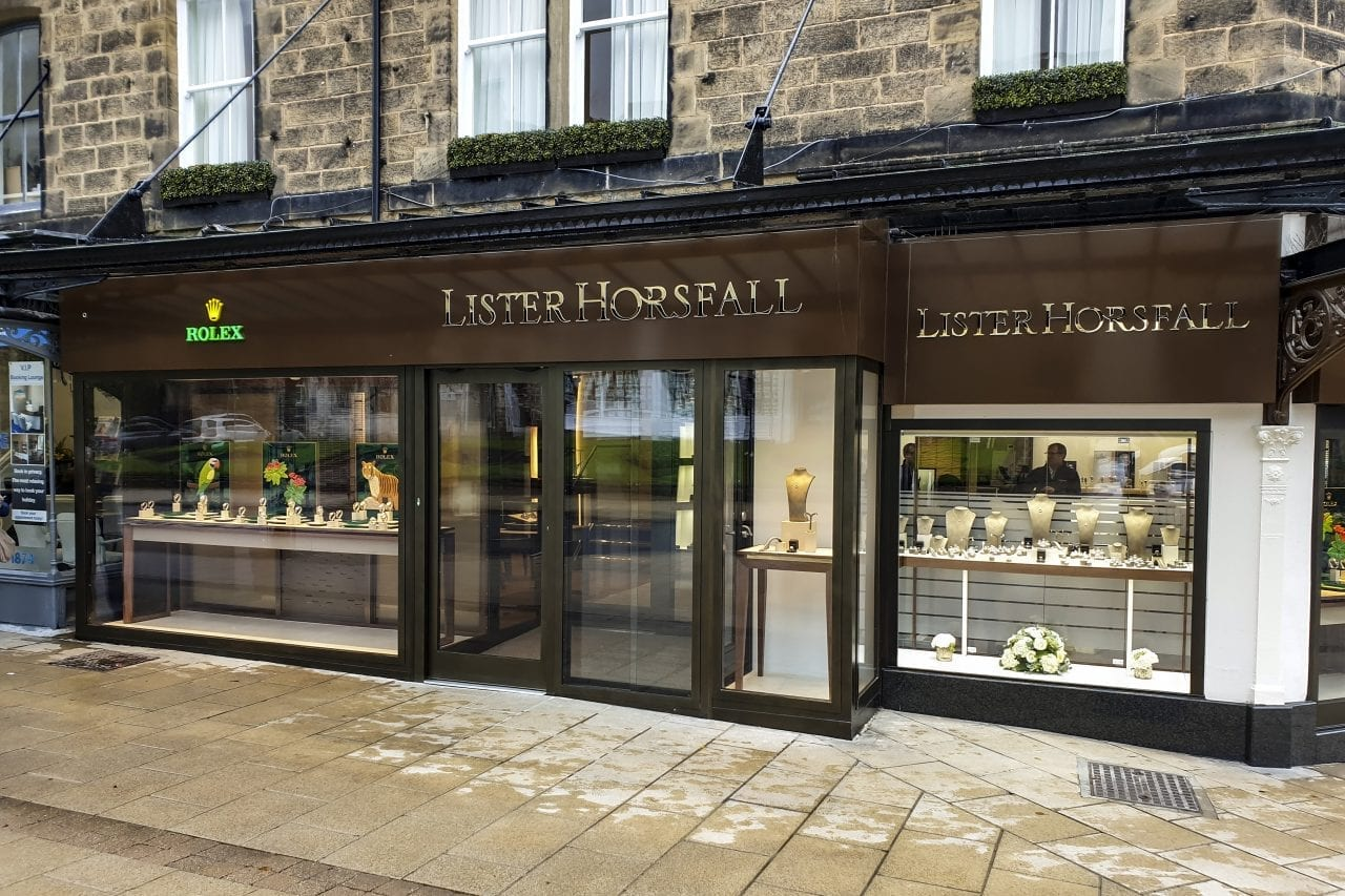 Lister Horsfall's Warrior Shop Front & Fully Glazed Interlocking Sliding Doors