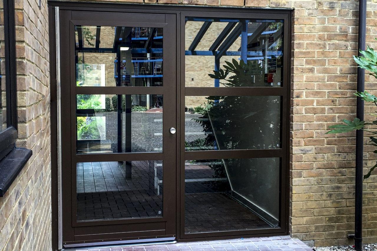 3gg Warrior Communal Entrance Door & Screen on a Communal Residential Building