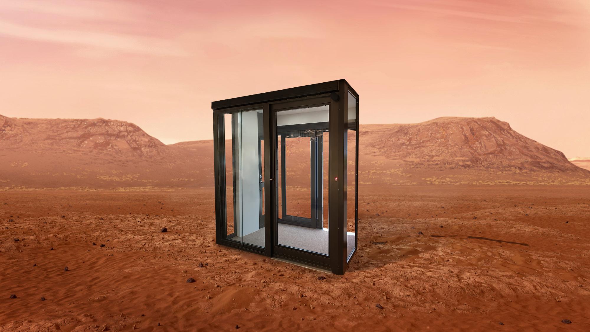 Warrior Interlocking door on mars.