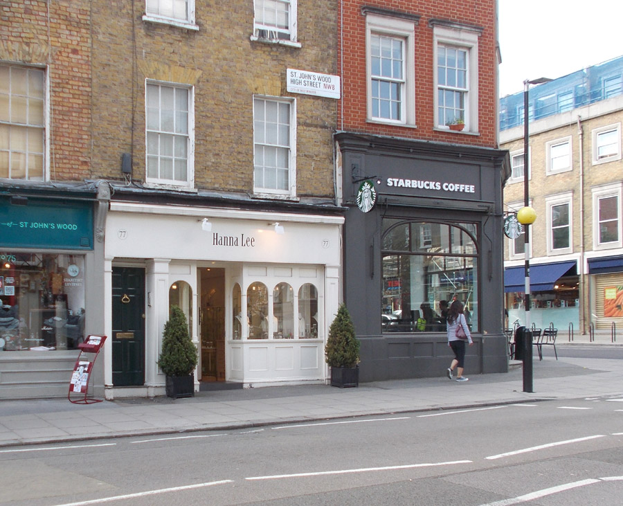 Jewellery store with charity shop and starbucks neighbouring it