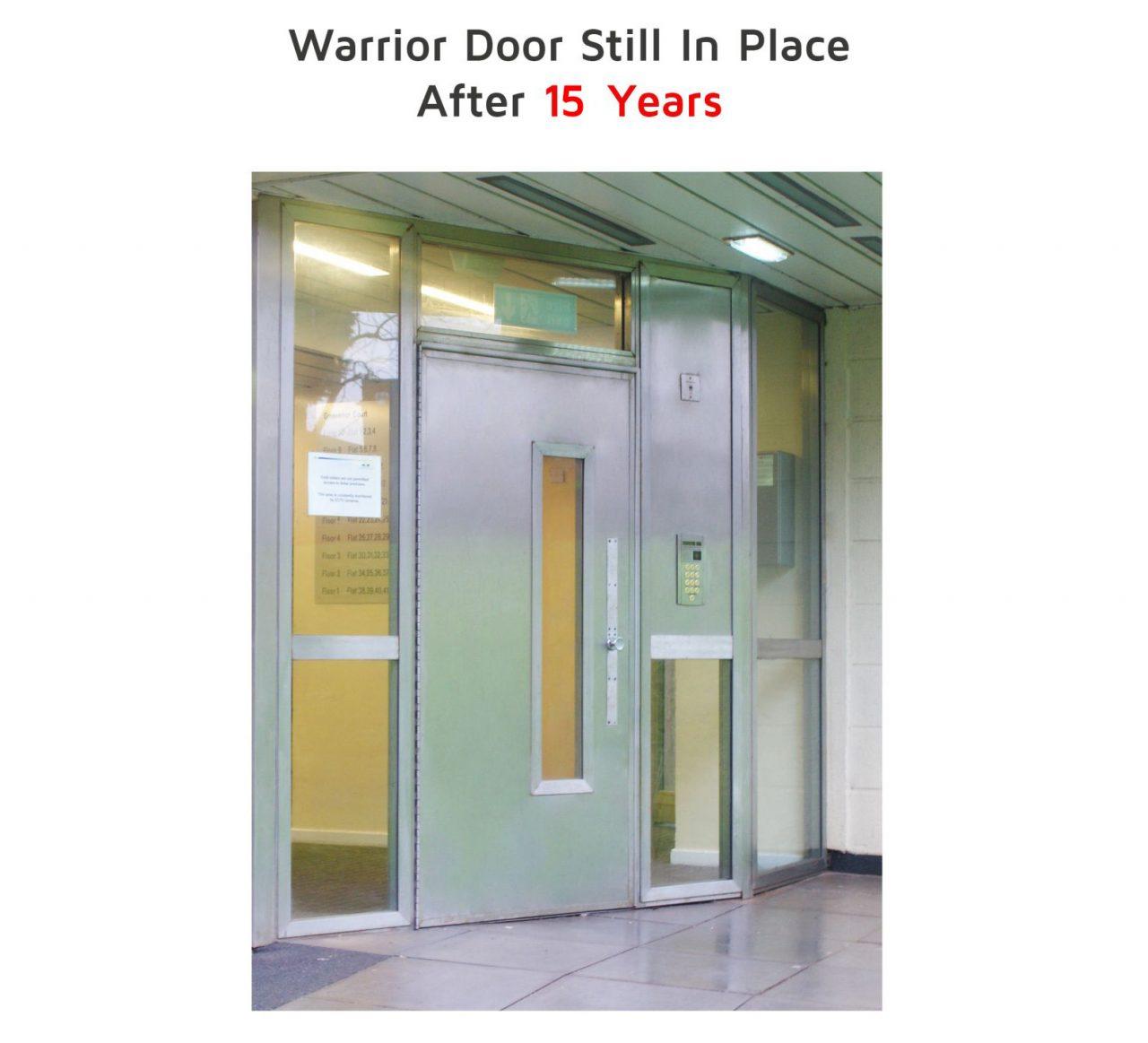 warrior door that has been installed for 15 years