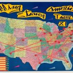 Map of America with Tour Points Marked